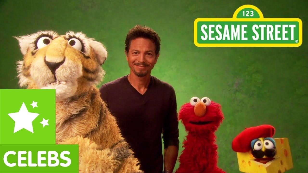 Sesame Street: Benjamin Bratt and Elmo translate for a ...