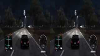 Gameplay in 3D - Test Drive Unlimited 2 ( Black Mercedes, Night, Nvidia 3D Vision )