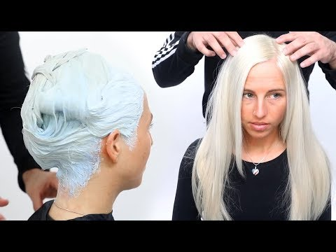 HOW TO COLOR HAIR WHITE - WHITE HAIR COLOR TUTORIAL
