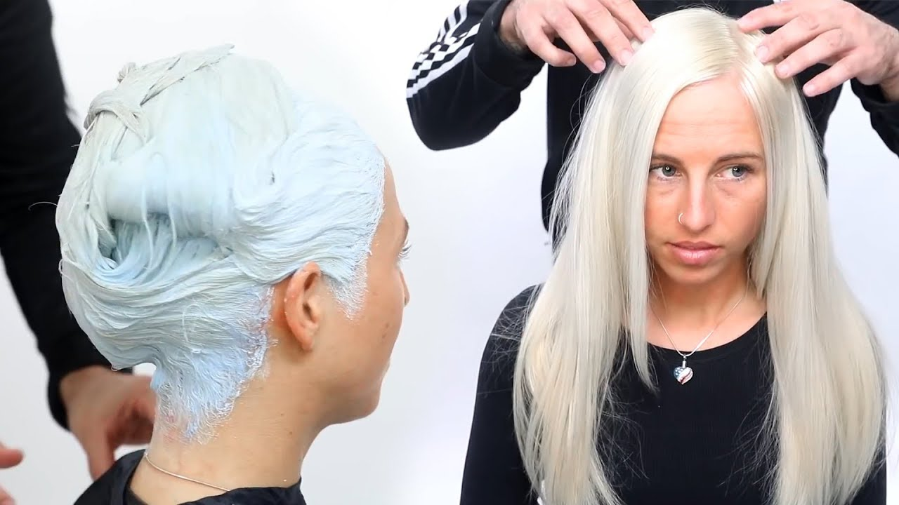 color hair white