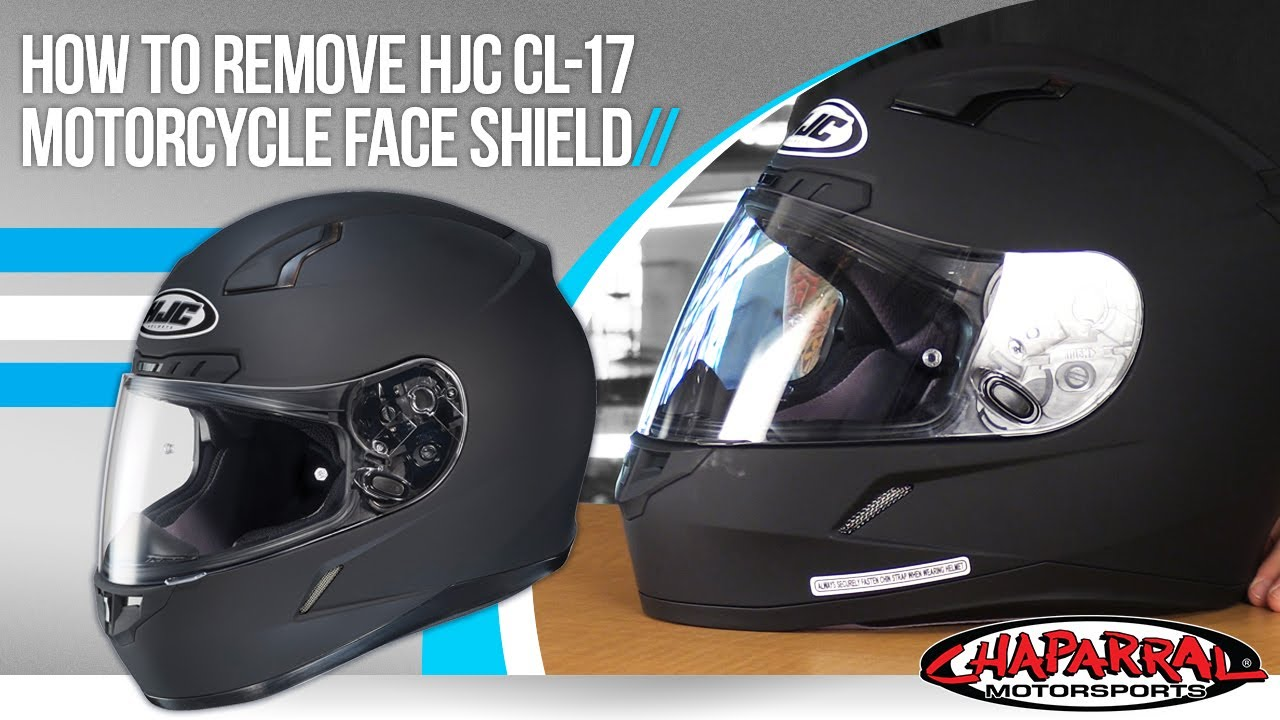 e215aedc How To Change The Face Shield On HJC CL-17 Motorcycle Helmet at Chapmoto.com