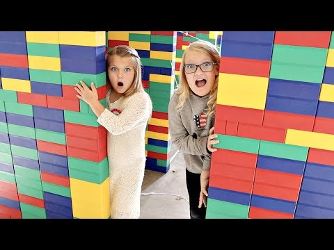 GIANT LEGO FORT Escape Room!