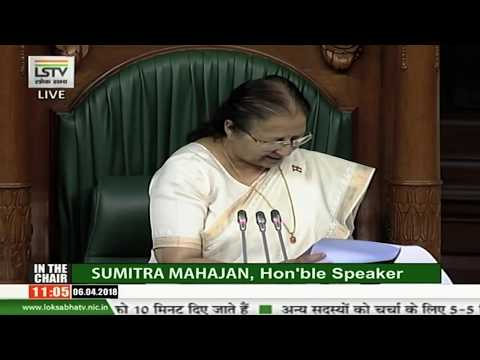 Lok Sabha lost 127 hours to disruptions: Speaker Sumitra Mahajan