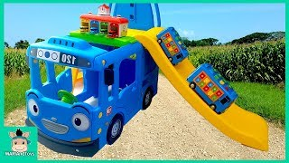 Video Tayo Bus Car toy videos for kids. Wheels On The Bus and Learn Colors Songs for baby | MariAndToys download MP3, 3GP, MP4, WEBM, AVI, FLV Juni 2018