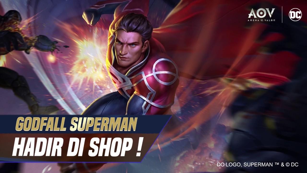 Godfall Superman Skin Spotlight Garena Aov Arena Of Valor