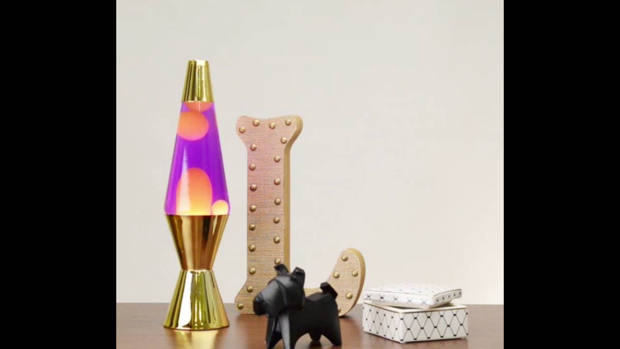 Lovely 2151 Gold Metallic LAVA Lamp