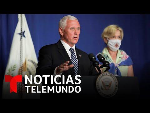 Rueda de prensa desde la Casa Blanca sobre el coronavirus en medio del repunte de contagios