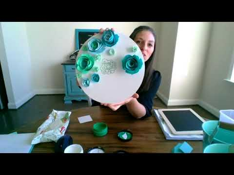 Embellishing Chalk Couture with Cricut Paper Flowers