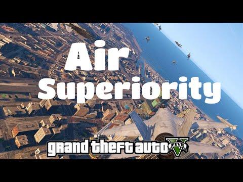 GTA V - Air Superiority Mod beta (air warfare/combate aéreo)