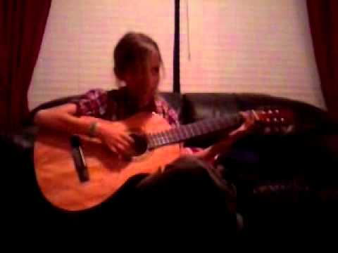 10 year old girl plays papa loved mama  on her guitar