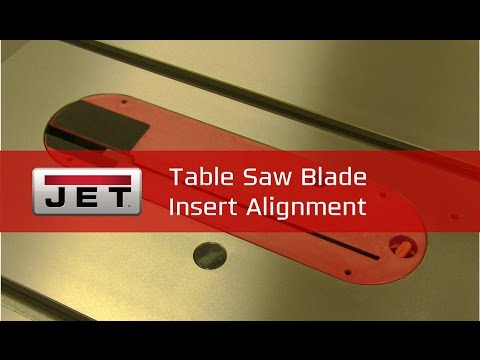 Table Saw Blade Insert Alignment | #TipTuesday