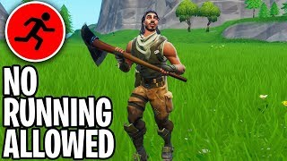 I won a game of fortnite ONLY Walking... (too easy)