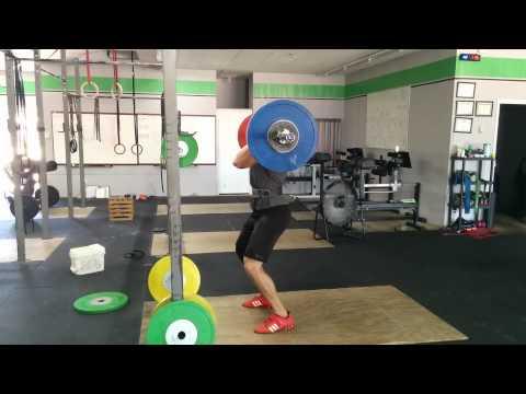 Willie McLendon 115kg Jerk Stall Triple
