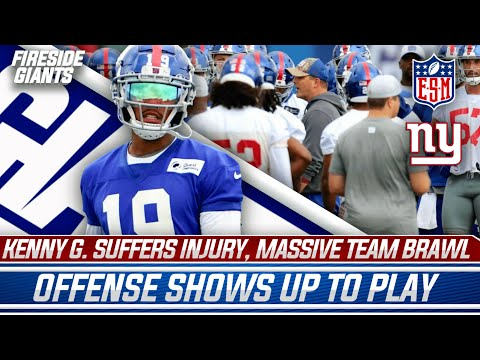 Kenny Golladay Injured At Practice, MASSIVE Brawl, Daniel Jones Stands Out  | New York Giants