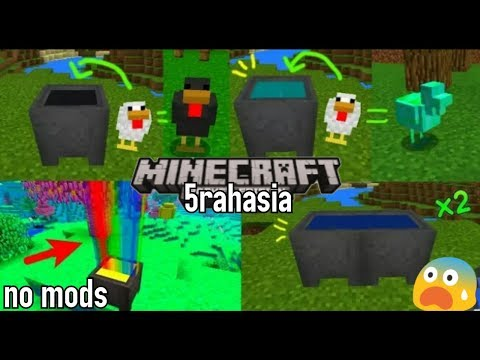 5 rahasia cauldron yg mungkin kalian blm ketahui di minecraftPE! No mods!