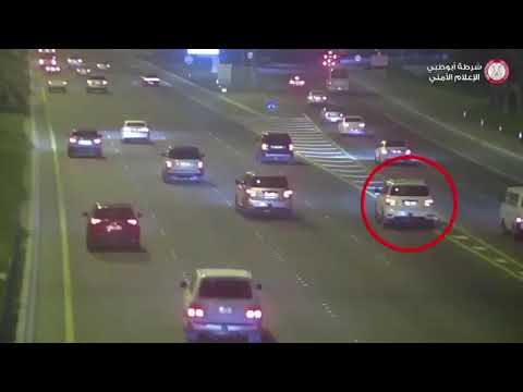 Today Horrific crash in uae by distracted driver on mobile-