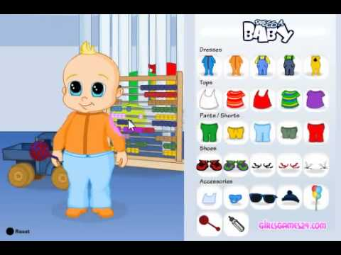 Детская игра  Одеть ребенка игры для маленьких детей