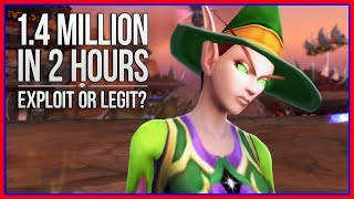 1.4 Million Gold in 2 Hours with Darkmoon Faire | Exploit or Legit?