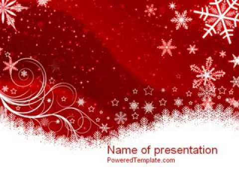 Snowflake Blizzard PowerPoint Template by PoweredTemplate - YouTube