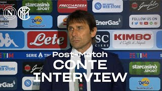 "NAPOLI 1-1 INTER | ANTONIO CONTE EXCLUSIVE INTERVIEW: ""The team knows what to do"" [SUB ENG] 🎙️⚫🔵"