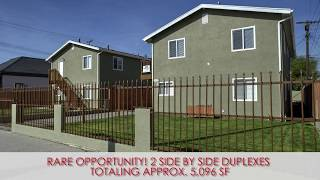 2 Non-Rent Control Section 8 Duplexes