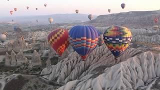 Полет над Каппадокией на воздушном шаре.