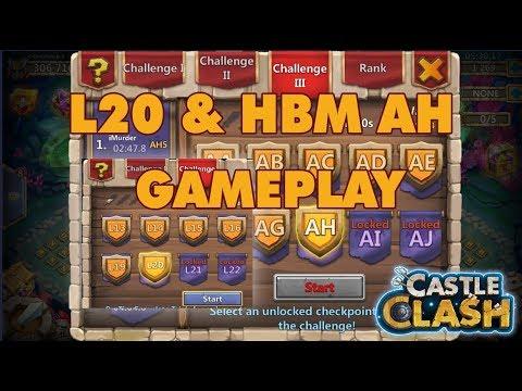Hero Trial L20 & HBM AH Gameplay | Castle Clash Update