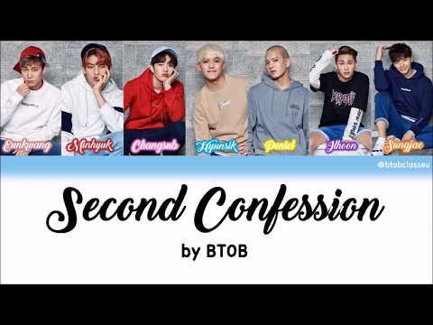BTOB (비투비) - 2nd Confession (두 번째 고백) HAN ROM ENG Lyrics