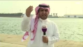 #نشرة_الرابعة في ميناء #جازان بعد ادعاء الانقلابيين قصفه