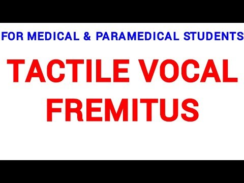 TACTILE VOCAL FREMITUS | CLINICAL LAB | PHYSIOLOGY