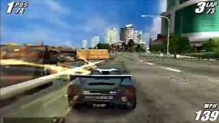 Burnout Legends PSP gameplay: Super class Grand Prix (60fps)