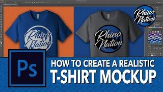 إنشاء T-Shirt نموذج بالحجم الطبيعي في أدوبي فوتوشوب