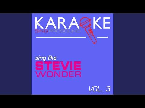 These Three Words (In the Style of Stevie Wonder) (Karaoke Instrumental Version)