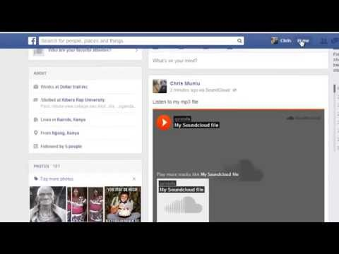 How To Share/Upload Mp3 Files On Facebook