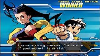 Capcom Fighting Evolution - Sakura/Rose - Arcade Mode Playthrough