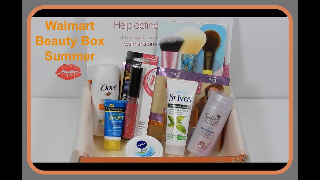 WALMART SUMMER BEAUTY BOX free sample box - YouTube