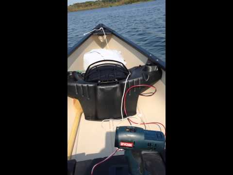 Lithium Ion Powered Electric Canoe