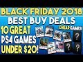 Black Friday 2018 - 10 Great PS4 Games Deals UNDER $20 at Best Buy