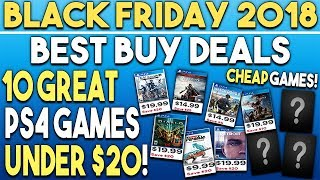 Black Friday 2018   10 Great Ps4 Games Deals Under $20 At Best Buy