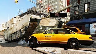 Grand Theft Auto IV Mods - Gameplay with Tank - GTA IV