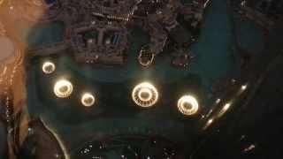 Musical Fountain from 124 Floor Burj Khalif (DUBAI)