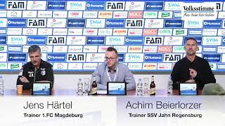 Die Pressekonferenz nach dem FCM-Spiel gegen Regensburg