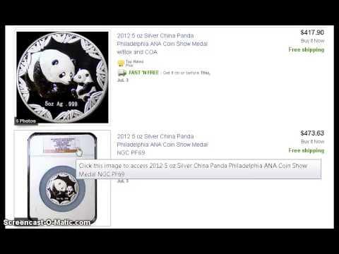 Deal: 2012 Philadelphia Chinese Silver Panda 5 oz from Silvertowne