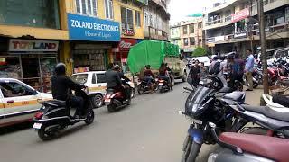 Traffic flow in Zarkawt - Aizawl - Mizoram /आइजोल