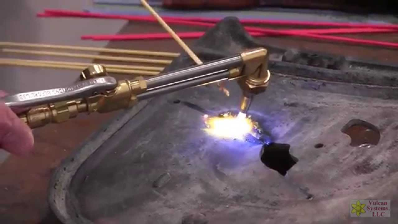 Cast Iron Brazing Demo - Wood Stove Door with Vulcan 320