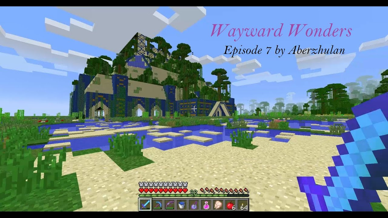 Minecraft Village Garden minecraft wayward wonders episode 7 - the hanging gardens of