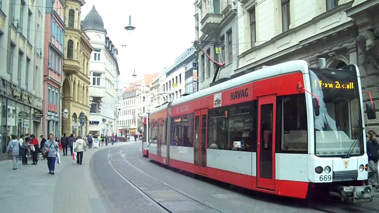 trams in halle saale germany trams youtube. Black Bedroom Furniture Sets. Home Design Ideas