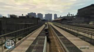 GTA IV grand theft auto Gameplay (GTA 4) PC Explosive flying Niko ATi Radeon HD 5870 1Gb GDRR5