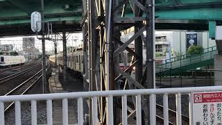 東急田園都市線8500系8621F急行中央林間行き西新井駅到着