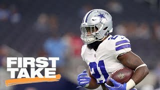 Stephen A. Smith reacts to NFL upholding Ezekiel Elliott's 6 game suspension   First Take   ESPN